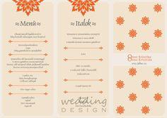 Wedding graphics from east, menu - Keleties hangulatú esküvői grafikák, menü Graphic/Grafika: Wedding Design