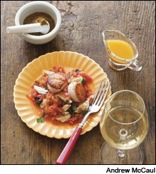 Dining Tip: Seared Scallop with Spiced Crab and Grapefruit | Dining Tips | News & Features | Wine Spectator
