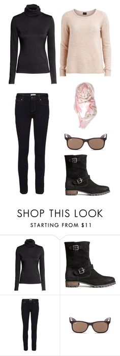 """""""Black jeans"""" by lone-haure-norrevang on Polyvore featuring H&M, VILA and Ray-Ban"""