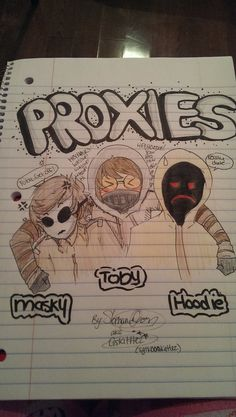 masky hoodie toby #proxies ^^^ Lol this is perfect XD<<< I drew somethin like this XD