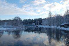 Snowy landscape by Neercseman on DeviantArt Color Studies, Environment, River, Mountains, Landscape, Nature, Outdoor, Wallpapers, Colour