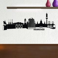 Hannover ist eine sehr schöne Stadt mit viele Sehenswürdigkeiten und auch bekannt als die Messestadt. Bestelle dir am besten noch heute die schöne Skyline von Hannover in unserem Shop. #Hannover #Skyline #Wadeco // http://www.wadeco.de/hannover-skyline-wandtattoo.html