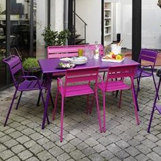 1000 images about envie de mobilier pour profiter du - Salon de jardin couleur ...
