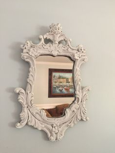 Vintage shabby chic mirror by Louis Bierfeld Co. by VintageSowles on Etsy