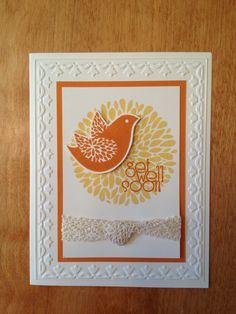 Stampin' Up! - Betsy's Blossoms.  Great card to make at a class. Participants can choose I different wording.