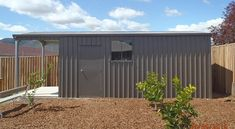 Custom-Designed Garaports (Garage & Carport Combo Buildings) To Suit Your EXACT Requirements - Aussie Steel & ShedSafe® Accredited. Building Layout, Sheds, Custom Design, Garage Doors, Outdoor Structures, Homes, Outdoor Decor, Home Decor, Shed Houses