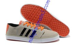 The 2013 New Cheap Adidas NEO BB Low Grey Orange Black White G53389