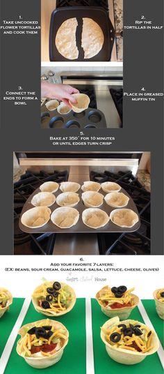 7 layer dip bowls