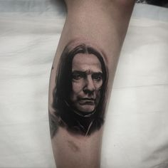 "Repost from tattoo artist @jesse.brothers  from Perth Australia - ""Okay so this was booked in for a day last year and the appointment was rescheduled to today don't know if that's weird ... RIP"" #snape #alanrickman #rip #harrypotter #getinked #inklocations #tattoo #ink #inked #tattoos #art #tattoed #black #tattoist #design #instaart #tatted #instatattoo #bodyart #amazingink #tattedup #tattooartworldwide #supportartists"