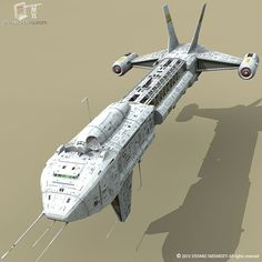 Generic Cargo spaceship Made in Other formats have textures too. Spaceship 3d Model, Spaceship Art, Spaceship Design, Starship Concept, Space Story, Sci Fi Spaceships, Sci Fi Ships, Space Pirate, Futuristic Cars