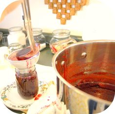 our organic farm fruit jams- this link is a recipe for grape jam