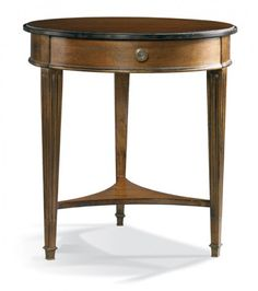 Hickory White Celia Pedestal Base and 60Dia Grooved Top Dining
