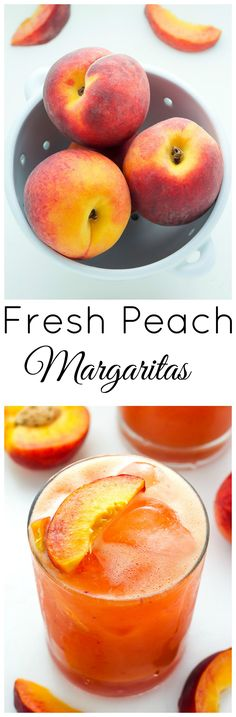 Fresh Peach Margaritas. Perfect For a Georgia Summer!