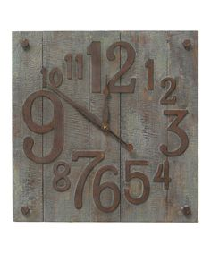 Another great find on #zulily! Bucolic Wall Clock by The Import Collection #zulilyfinds
