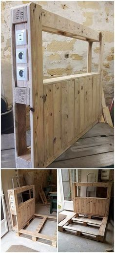 To arrange your room with something that is really inspiring then here we have the awesome creation of the wood pallet bed headboard structure for you. Although you can call it by the name of wood pallet bed framing as well. Bring attraction in your room by putting this headboard over here!