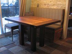 """Kitchenette table walnut Dimensions: 36"""" x 48"""" x 2"""" x 30"""""""