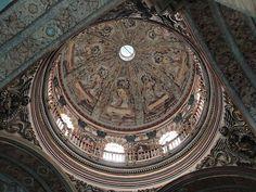 Cúpula de la iglesia de San Francisco de Quito.