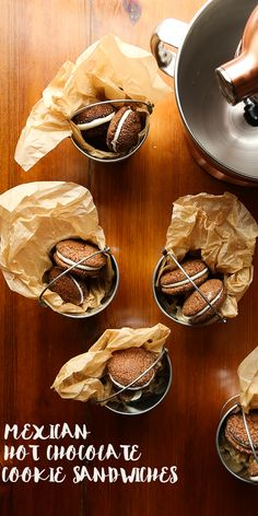 Mexican Hot Chocolate Cookie Sandwiches - a fantastic treat for the holiday season! — Probably This