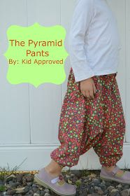 Tutorial for drafting harem, pyramid, MC Hammer pants for kids