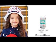 Çocuklar için Alize çiçek iplikle şık şapka - an elegant hat wıth alıze flower yarn for kİds - YouTube