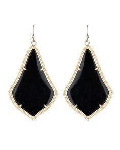 New! Kendra Scott 'Alexandra' Large Drop Earrings, Reversible, Black Iridescent Gold. Get the lowest price on New! Kendra Scott 'Alexandra' Large Drop Earrings, Reversible, Black Iridescent Gold and other fabulous designer clothing and accessories! Shop Tradesy now