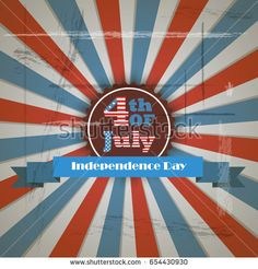 Vector independence day badge. Poster - retro vintage version