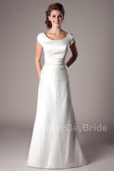 Bennett - Modest Wedding Dress Front