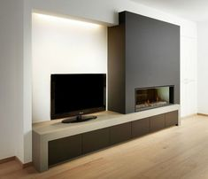 A fabulous fireplace will make your home stylish Source by theurban interior The post A fabulous fireplace will make your home more stylish appeared first on My style My Home. A fabulous fireplace will make your home stylish fabulous Linear Fireplace, Basement Fireplace, Home Fireplace, Living Room With Fireplace, Minimalist Fireplace, Minimalist Living, Living Room Tv, Home And Living, Modern Living