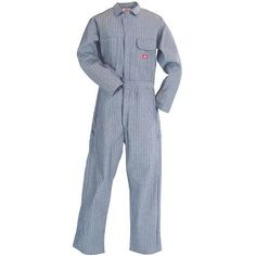 Dickies Work Uniforms Men's 48977 FS Fisher Stripe Unlined Cotton Coveralls