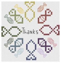 Thanks Cross Stitch Pattern © pickleladyfarm