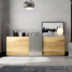 Aparadores de Diseño © Modernos y Clásicos【 100% CALIDAD 】 Tv Cabinet Design, Modern Furniture Online, Deco Design, Tv Cabinets, Wooden Doors, Interiores Design, Minimalist Design, Sideboard, Like4like