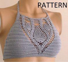 Crochet patrón Top Halter patrón Top Halter por LOVEKNITCROCHET …