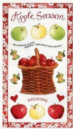 Susan Branch Stickers - HARVEST Apple Season