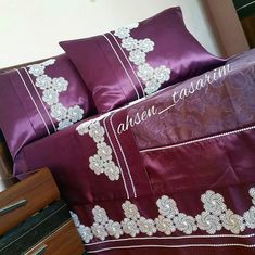 Bed Cover Design, Bed Covers, Baby Gifts, Throw Pillows, Blanket, Luxury, Couture, Pillow Case Crafts, Embroidered Pillowcases