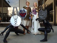 """Legend of Zelda: Twilight Princess Cosplay by ~silvver"" COOOOL. But they look weird."
