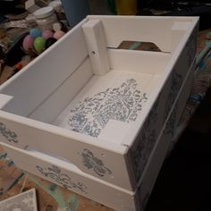 I tried my hand at IOD stamps today. So many possibilities. Hope Chest, Crates, Storage Chest, Stamps, Workshop, Cabinet, Furniture, Home Decor, Seals