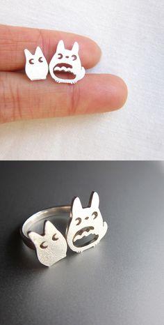 Image of My Neighbor Totoro (となりのトトロ) Silver Ring - Handmade Silver Ring $59