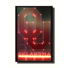 Neonetics Oklahoma Sooners Neon Poster Sign - Oklahoma Sooners Lighted Poster