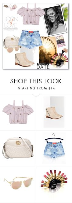 """Date Night Look"" by tattooedmum ❤ liked on Polyvore featuring Kelsi Dagger Brooklyn, Gucci, Thierry Lasry, Chanel, Ciaté and Vince"