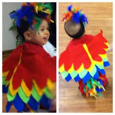 Yay for homemade baby parrot costumes !