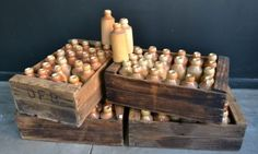 Interiors - Provenance Auction House: A Group of Four Crates of Doulton Lambeth Stoneware Bottles. African Art, Crates, Stoneware, Bottles, Highlights, Auction, Interiors, Ceramics, Group