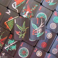 Vtg Circa 1920s 152 Tiles Mixed Sets Black Bamboo Mahjong Tiles –Tiles Only | eBay