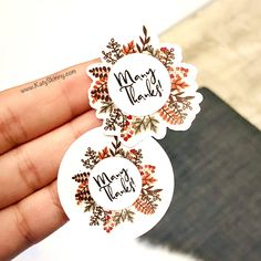 Excited to share this item from my #etsy shop: Many Thanks Fall Wreath Stickers, Fall Diecut Stickers, Leaf Round Fall, Package Stickers, Box Stickers, Etsy Stickers, Fall 2019 Stickers Love Stickers, Thank You Stickers, Packaging Stickers, Packaging Ideas, Packaging Design, How To Make Labels, Ipad Art, Sticker Design, Making Ideas