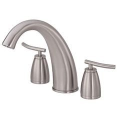 Danze Deck Mounted Roman Tub Faucet Trim From the Sonora Collection Brushed Nickel Faucet Roman Tub Double Handle Shower Fixtures, Shower Faucet, Roman Tub Faucets, Bathroom Faucets, Nickel Finish, Brushed Nickel, Shopping Hacks, Modern Classic, Soap Dispenser