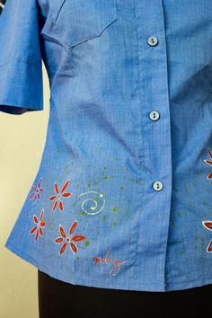 Hand painted vintage from the 70's shirt by MrsDarksidesArtWork on Etsy