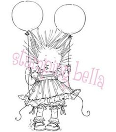 ANGELINA Rubber Stamp by Mo Manning from Stamping Bella