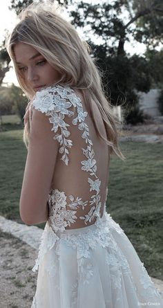 lovely back defined with exquisite lace