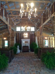 The main barn. The wedding ceremony took place here.