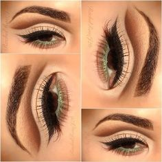 If you don't have a epicanthic eye fold like I do, I would extend the liner in the inner corner of the eyes for a more elongated look :) nude floating cut crease. New Makeup Ideas, Makeup Inspiration, Makeup Tips, Basic Makeup, Highlighter Makeup, Lip Makeup, Beauty Makeup, Flawless Makeup, Makeup Geek