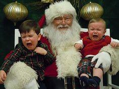 that awkward first visit with Santa, lol..